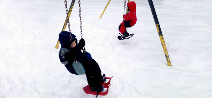 snowshoe-swinging