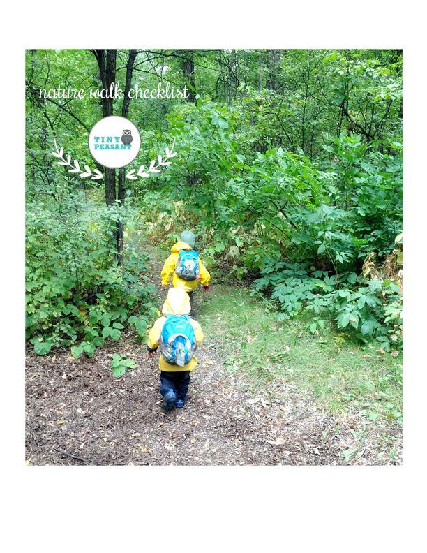 Tiny Peasant Nature Walk Checklist Cover