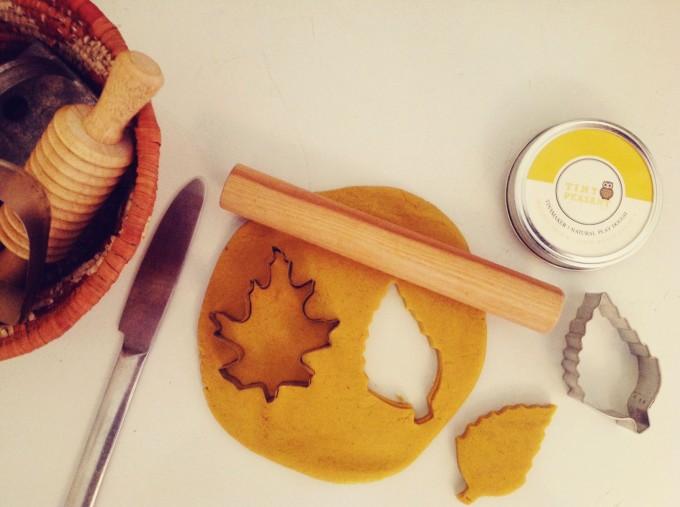 pumpkin play dough cut outs