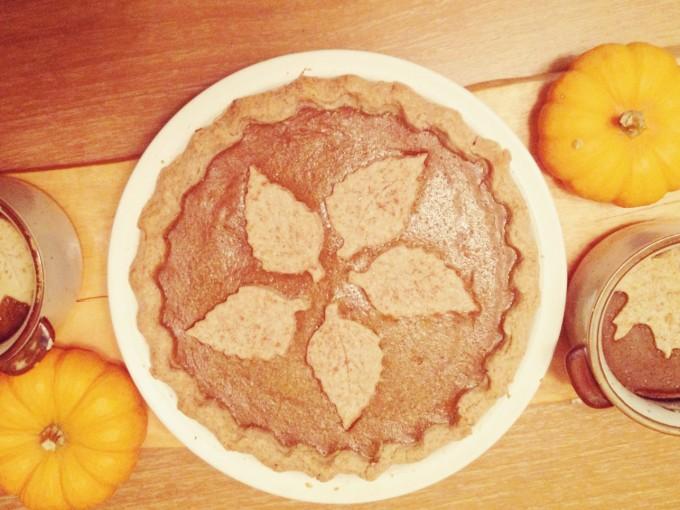 spelt pumpkin pie
