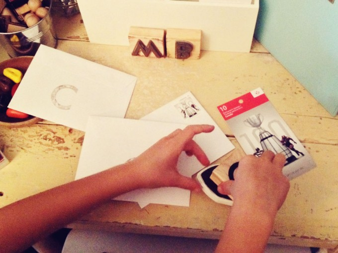 letter writing station stamp