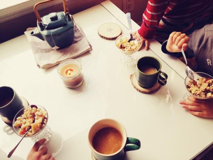 rice pudding and chai tea