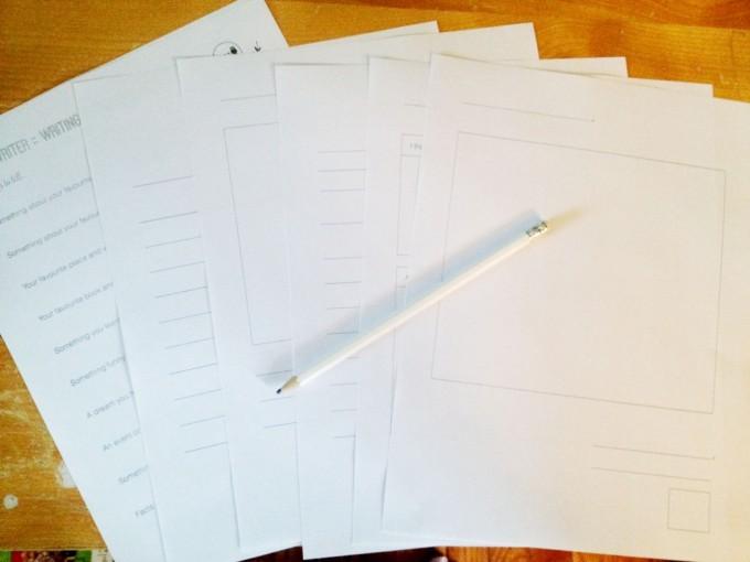 tiny writer writing printables
