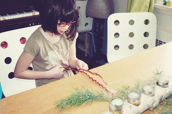 bre making bracelets christmas