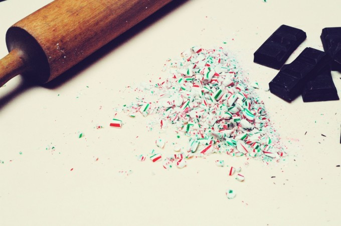 candy cane fudge crushed