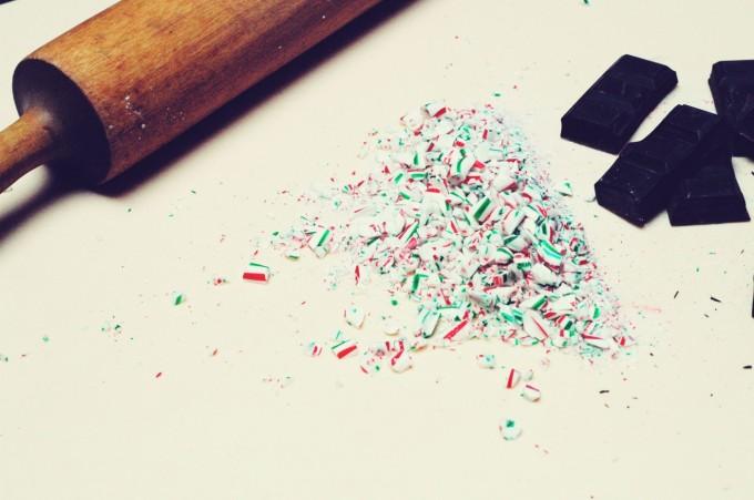 candy cane fudge crushed