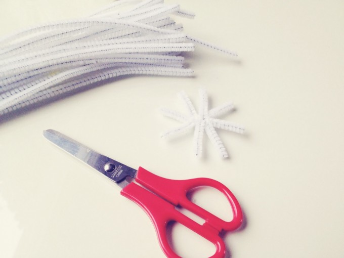 crystals - cut pipe cleaners