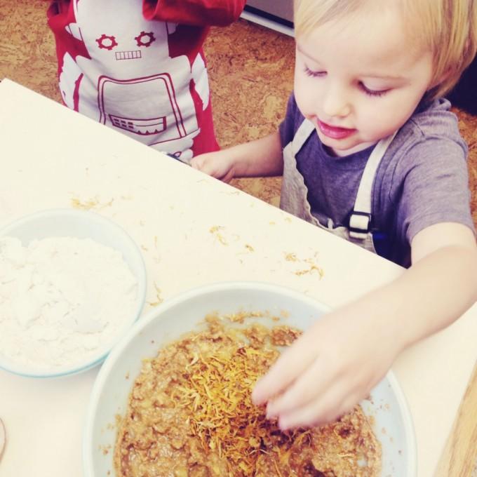 tiny peasant calendula muffins calendula