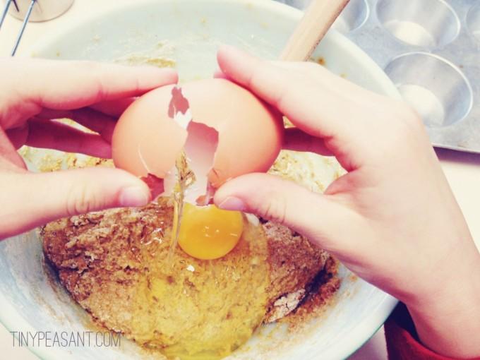 tiny peasant calendula muffins egg