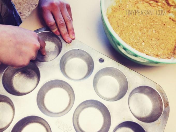 tiny peasant calendula muffins grease