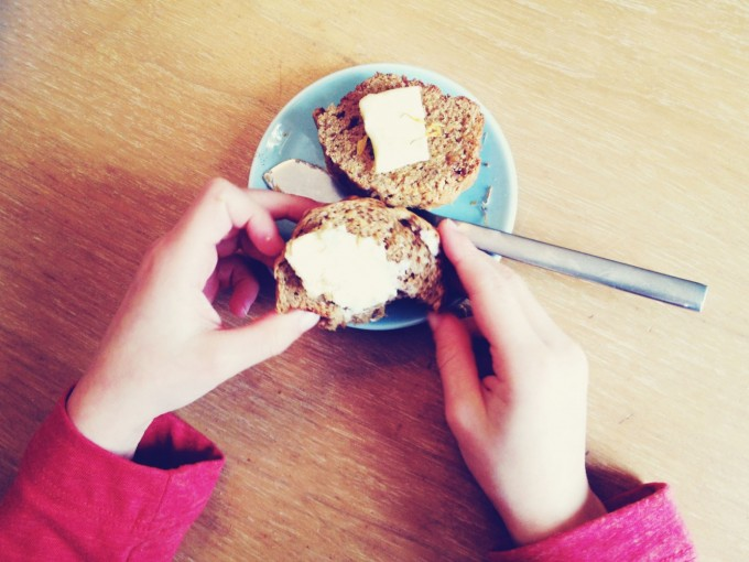 tiny peasant calendula muffins yum