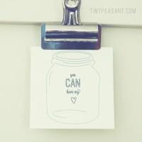 Tiny  Peasant Valentine Jar