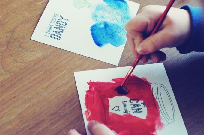 Tiny Peasant Valentine Painting MiGuy