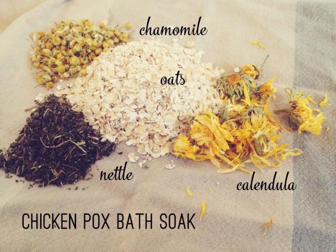 chicken pox bath soak new