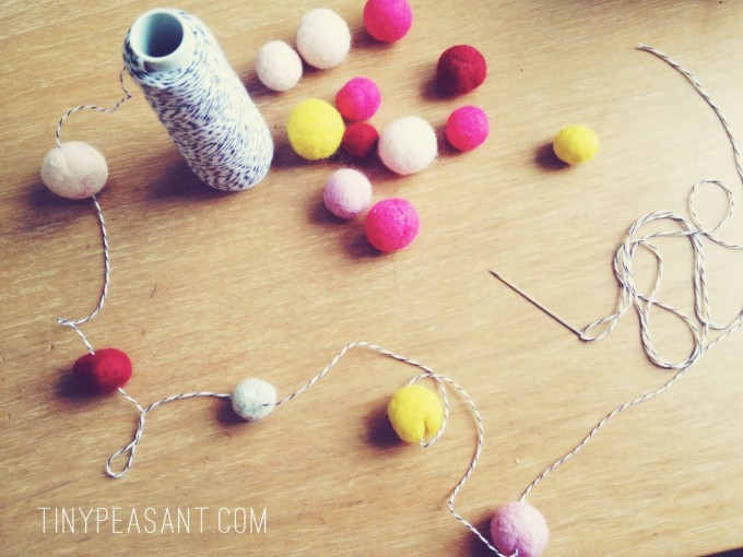 tiny peasant felted garland