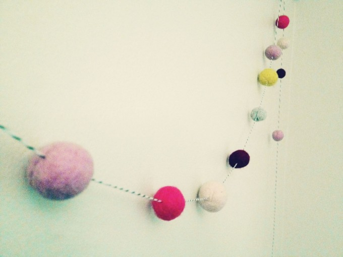 tiny peasant felted garland hanging fi