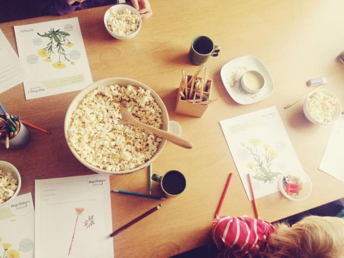 tiny peasant herb fairies + popcorn
