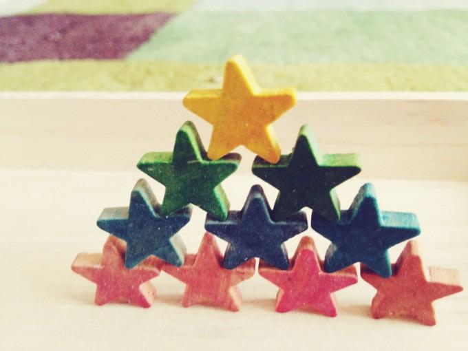 tiny peasant stacked stars