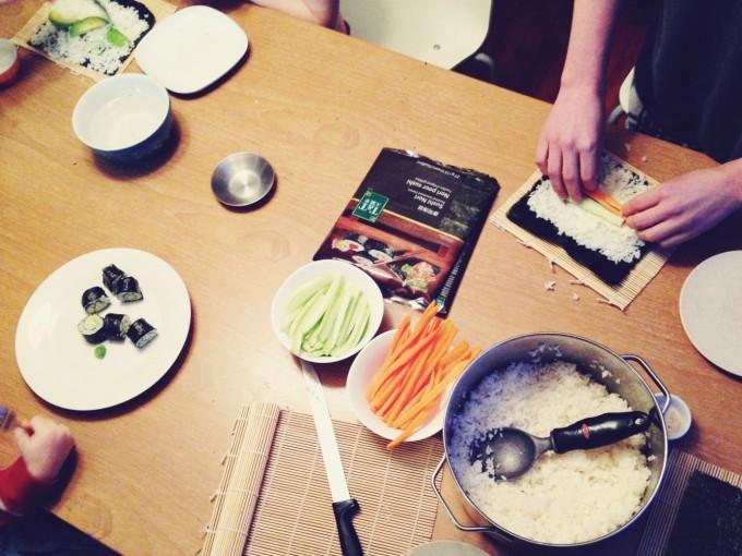 tiny peasant sushi making