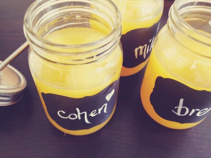 tiny peasant valentine's juice jars