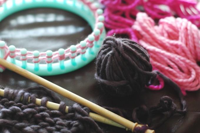 impromptu knitting time