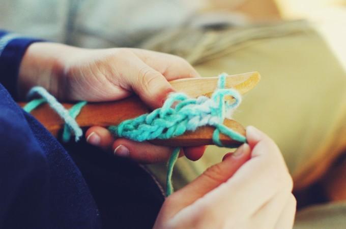 impromptu knitting time fork