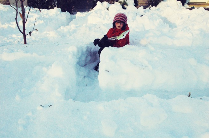 snow maze shoveling