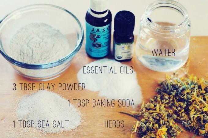 tiny peasant ingredients labeled - calamine