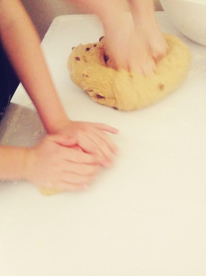 tiny peasant paska knead