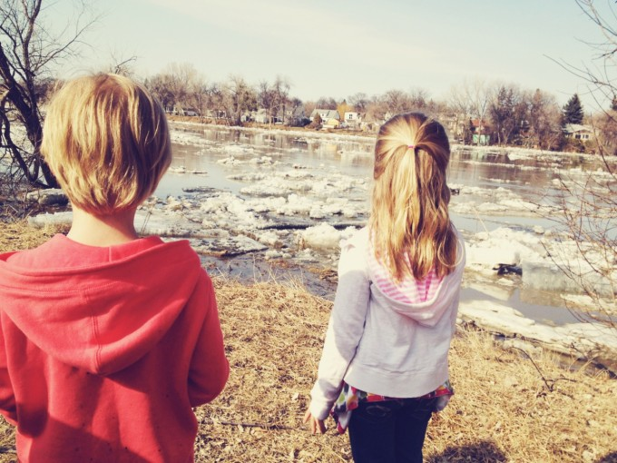 watching the ice flow