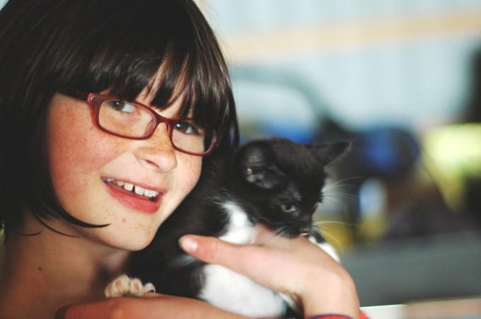 TP farm visit kitty