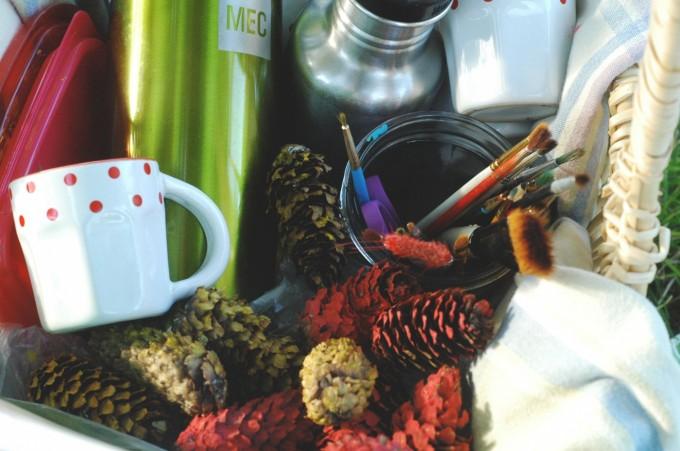 TP garden art and picnic basket