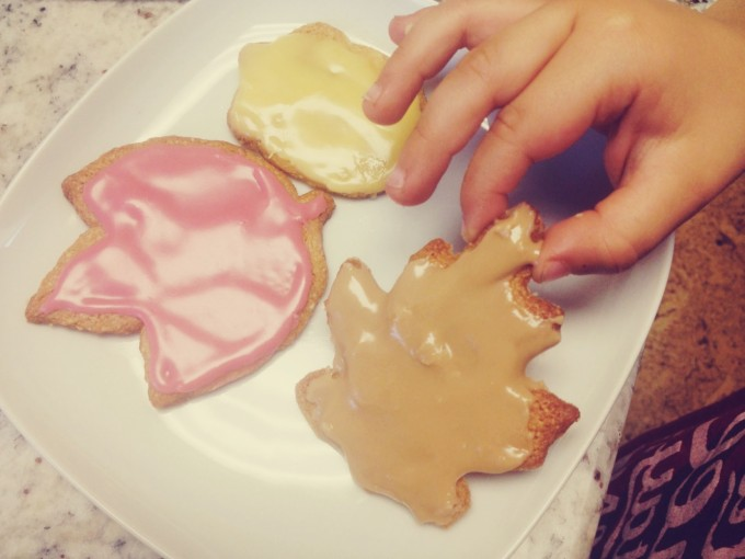 TP leaf cookie making