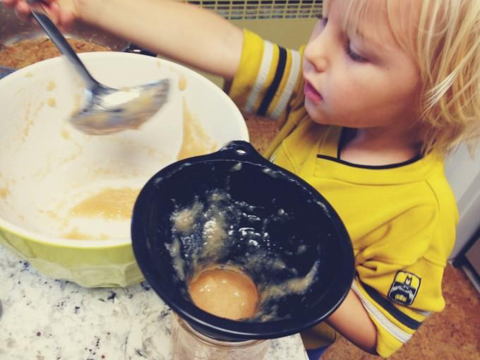 tp scooping applesauce
