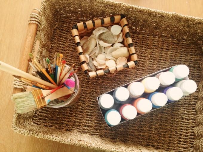 TP painted shells rocks