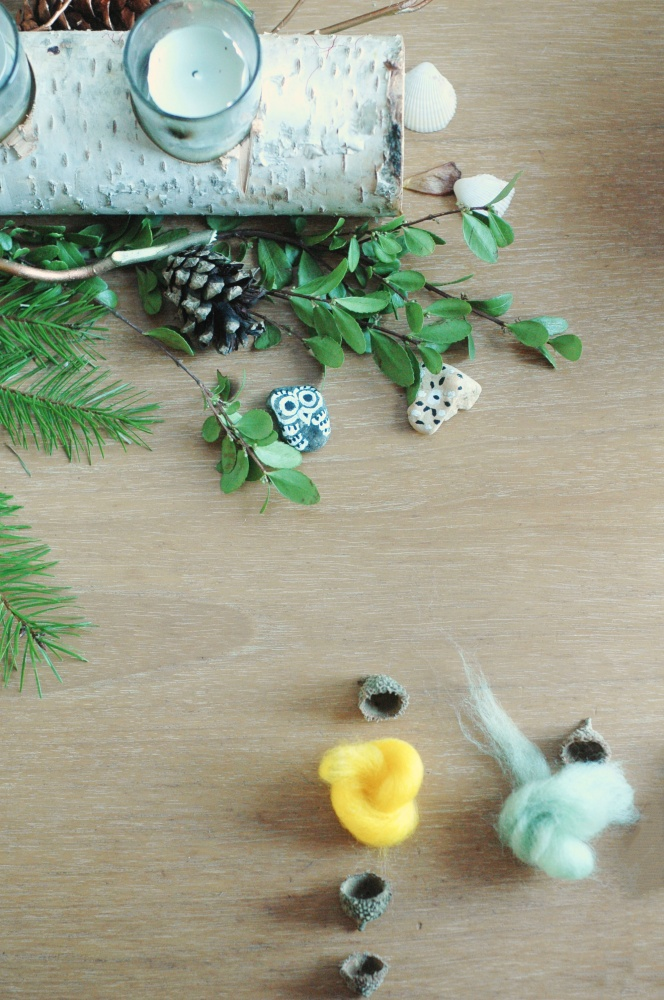 Tiny Advent Felted Acorns
