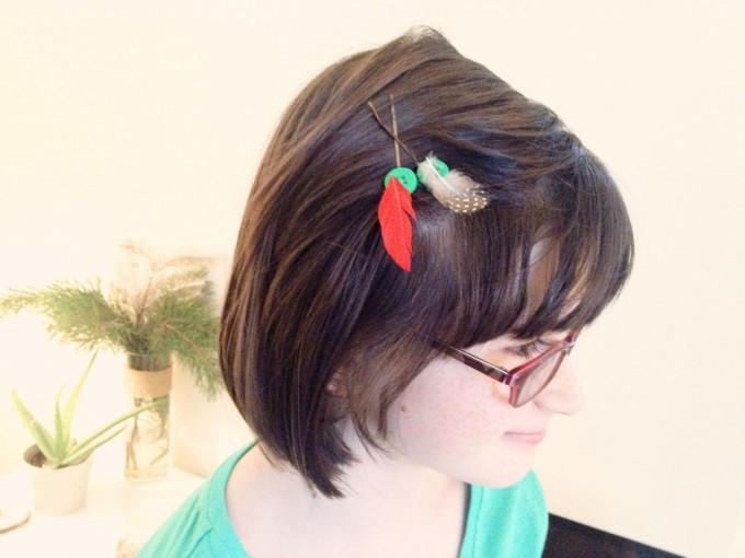 feather hair pins 2014 gift