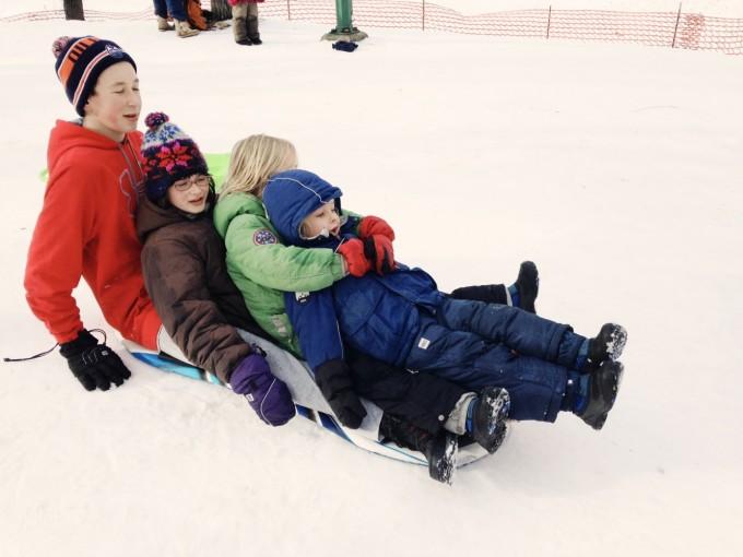 TP skip day sledding