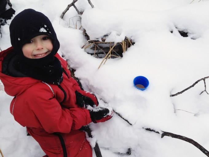 Hot Cocoa Break Snow Walk