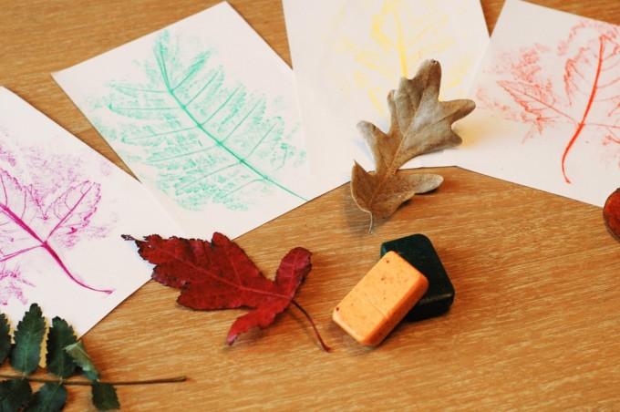 TP fall leaf rubbings