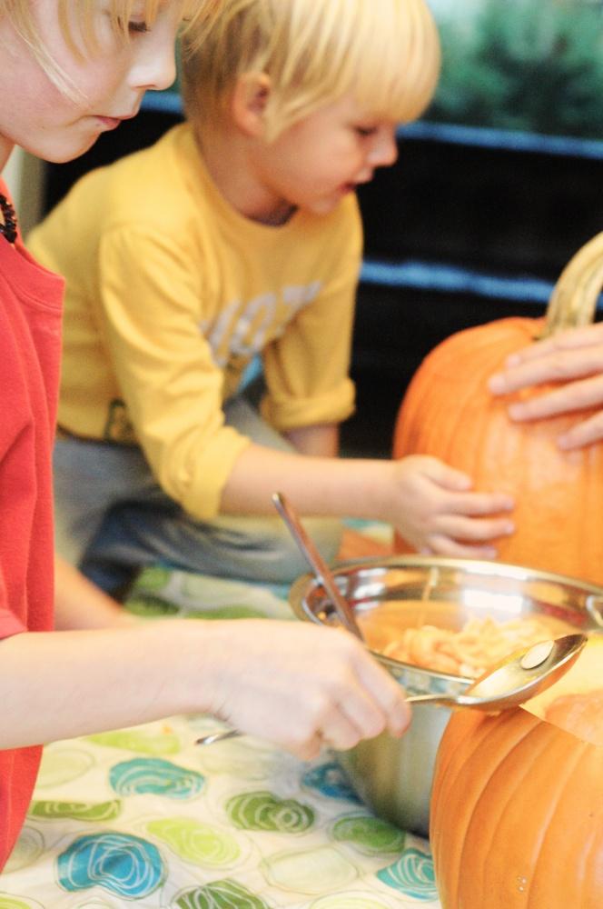 TP pumpkin carving bros