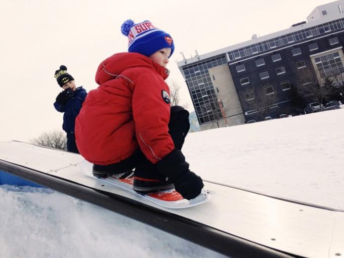 TP snowboard kid
