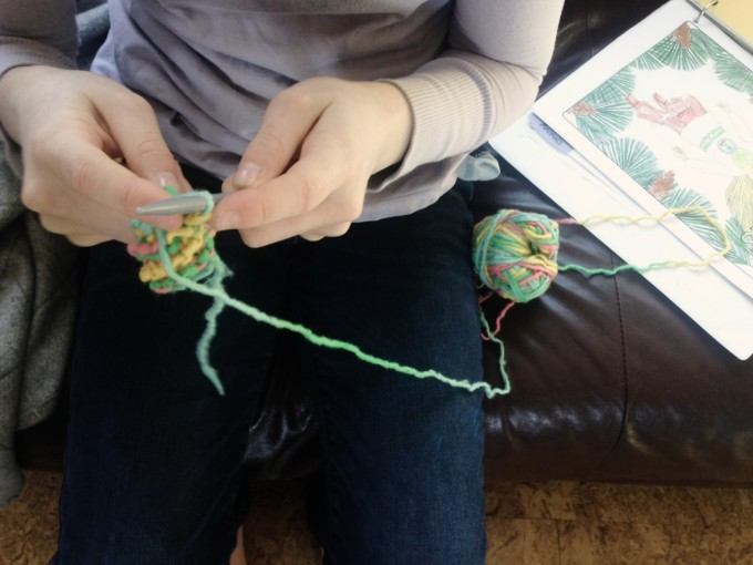 TP knitting herb fairies